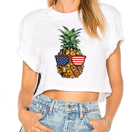 American Pineapple Cropped Tee