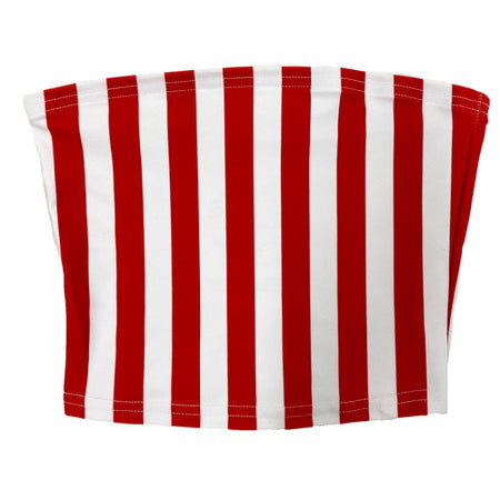 Red & White Striped Tube Top