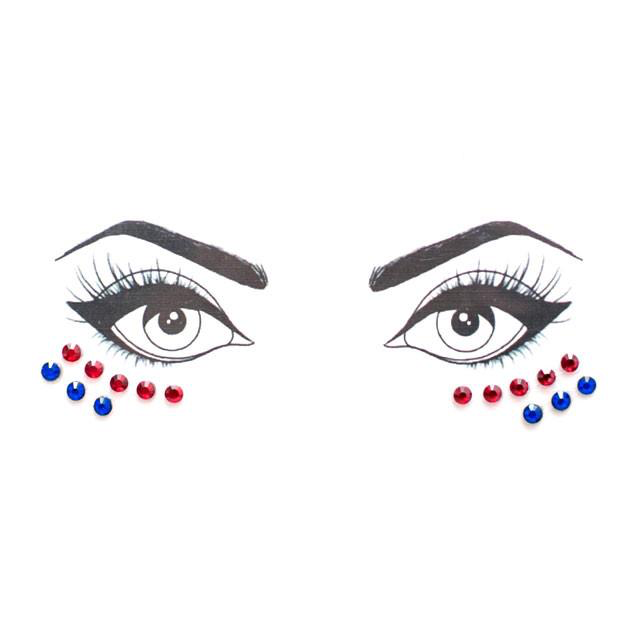 Red & Blue Face Jewels