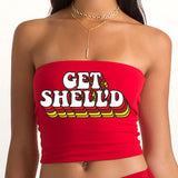 Get Shell'd Red Tube Top - lo + jo, LLC