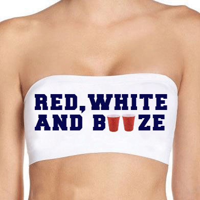 USA Red, White, and Booze Bandeau