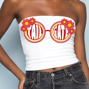 Red & Yellow Sunglasses Tube Top