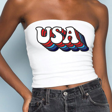 Retro USA Tube Top