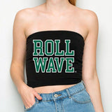 Tulane Roll Wave Black Tube Top