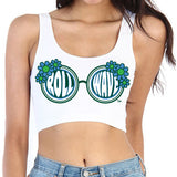 Tulane Roll Wave Sunglasses Crop Top