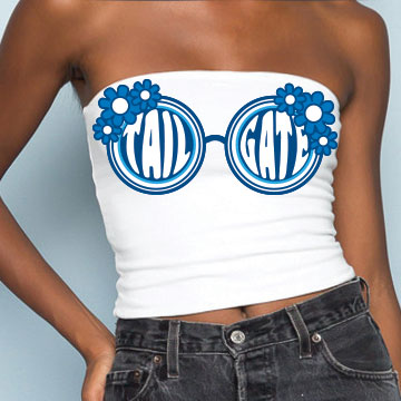 Blue Sunglasses Tube Top