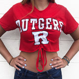Rutgers Ruched Tee