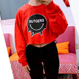 Rutgers Smile Cropped Crewneck