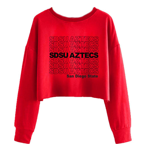 San Diego State Aztecs Have A Nice Day Red Crewneck