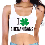 I Love Shenanigans Crop Top