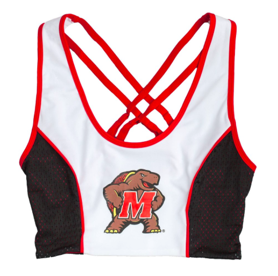University of Maryland Sporty Cropped Tank