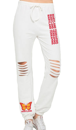 Maryland Terps Butterfly Joggers