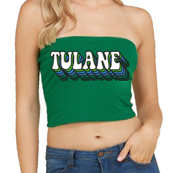 Tulane Retro Green Tube Top