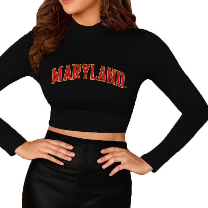 Maryland Terps Mock Neck Top