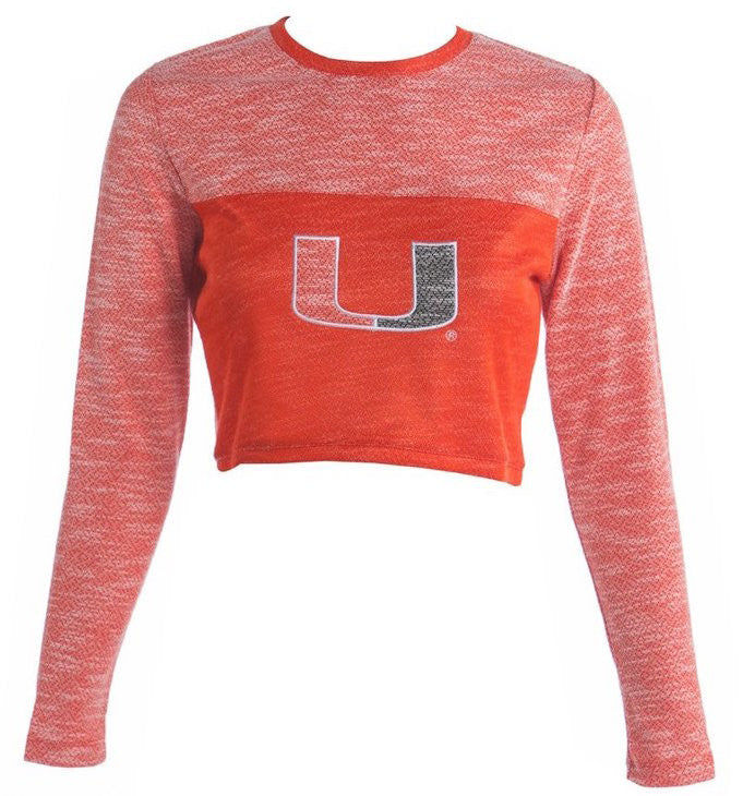 University of Miami Terry Crop Top