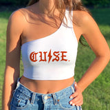Syracuse Gothic One Shoulder Top