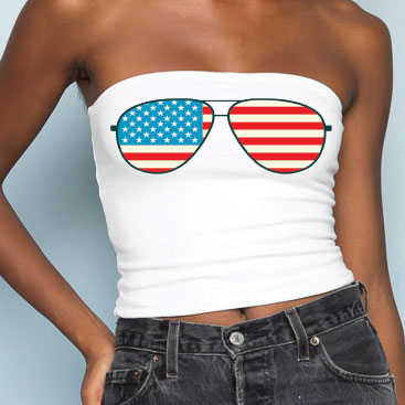 American Flag Aviators Tube Top - lo + jo, LLC