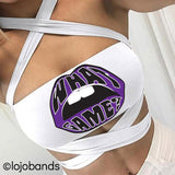 What Game White Multiway Bandeau