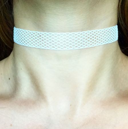 White Fishnet Choker