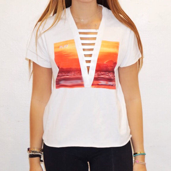 White Ladder Tee