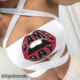 Red & Black Game Day White Multiway Bandeau