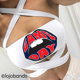 Game Day White Multiway Bandeau - lo + jo, LLC