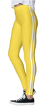 Yellow Double White Stripe Leggings