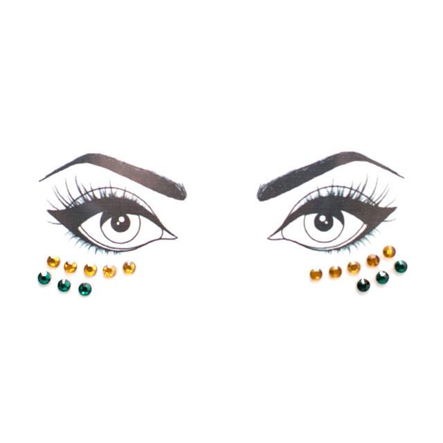 Green & Yellow Face Jewels - lo + jo, LLC