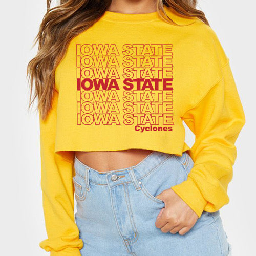 Iowa State Have A Nice Day Cropped Crewneck