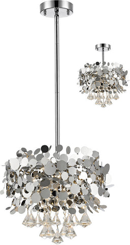 Z-Lite 1001-16CH 4 Light Pendant Monaco Collection Chrome Finish - ZLiteStore