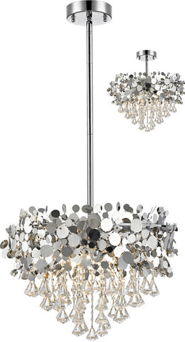 Z-Lite 1001-24CH 12 Light Pendant Monaco Collection Chrome Finish - ZLiteStore