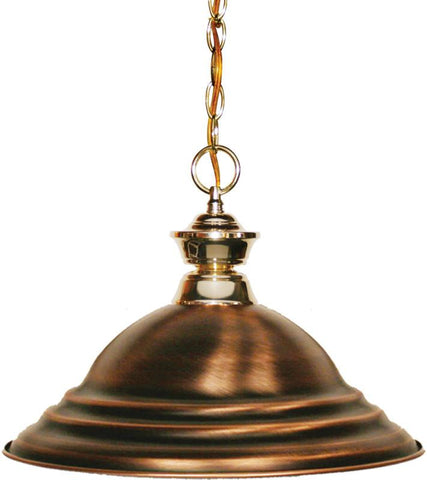 Z-Lite 100701PB-SAC 1 Light Pendant Shark Collection Stepped Antique Copper Finish - ZLiteStore