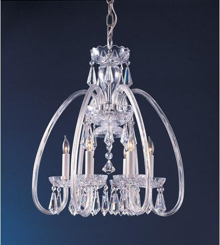 Crystorama 1015-PB-CL-MWP Traditional Crystal 6 Light Clear Crystal Brass Mini Chandelier - PeazzLighting