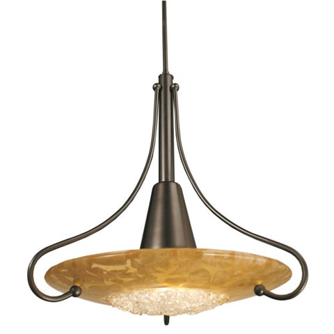 Framburg 1095-MB/GL 1-Light Mahogany Bronze Brocatto Pendant