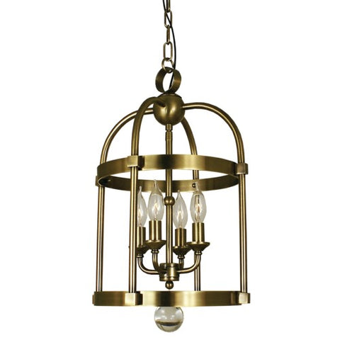 Framburg 1103-BN 4-Light Brushed Nickel Compass Mini Chandelier