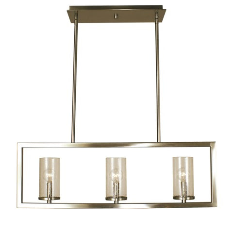 Framburg 1153-BN 3-Light Brushed Nickel Theorem Island Chandelier