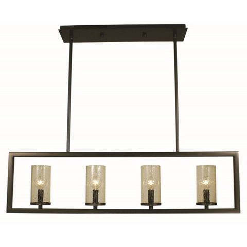 Framburg 1154-BN 4-Light Brushed Nickel Theorem Island Chandelier