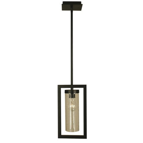 Framburg 1156-MBLACK 1-Light Matte Black Theorem Pendant