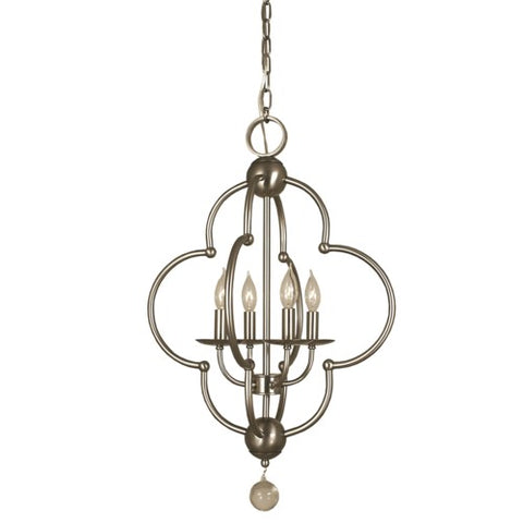 Framburg 1160-MB 4-Light Mahogany Bronze Quatrefoil Dining Chandelier