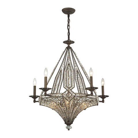 ELK Lighting 11785/5+5 Jausten Collection Antique Bronze Finish - PeazzLighting