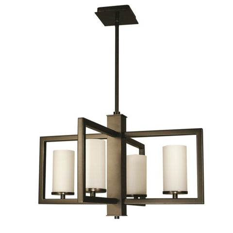Framburg 1195-MB 4-Light Mahogany Bronze Theorem Dining Chandelier