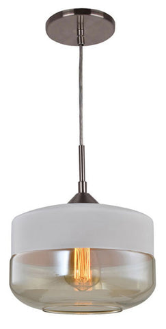 Woodbridge Lighting 12723STN-C110W3 Fuse Pendant, White - PeazzLighting