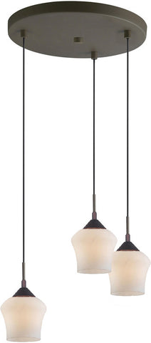 Woodbridge Lighting 12727MEB Belmont 3-light Cluster - PeazzLighting