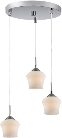 Woodbridge Lighting 12727STN Belmont 3-light Cluster - PeazzLighting