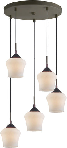 Woodbridge Lighting 12728MEB Belmont 5-light Cluster - PeazzLighting