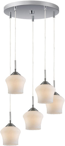 Woodbridge Lighting 12728STN Belmont 5-light Cluster - PeazzLighting