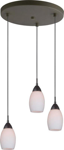 Woodbridge Lighting 13224MEB-C20401 Venezia Opal 3-Light Cluster
