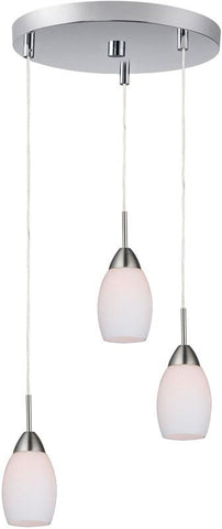 Woodbridge Lighting 13224STN-C20401 Venezia Opal 3-Light Cluster