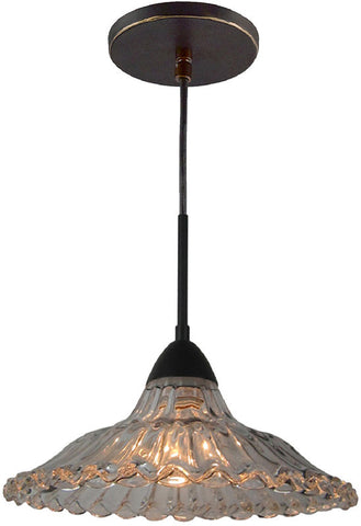 Woodbridge Lighting 13226MEB Miranda 1-light Mid-Pendant with Crystal Accent glass - PeazzLighting