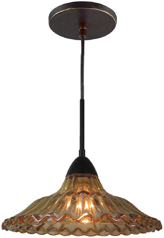 Woodbridge Lighting 13226MEB Miranda 1-light Mid-Pendant with Cognac Crystal Accent - PeazzLighting